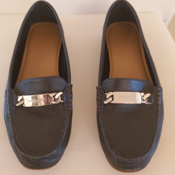 Navy COACH loafers